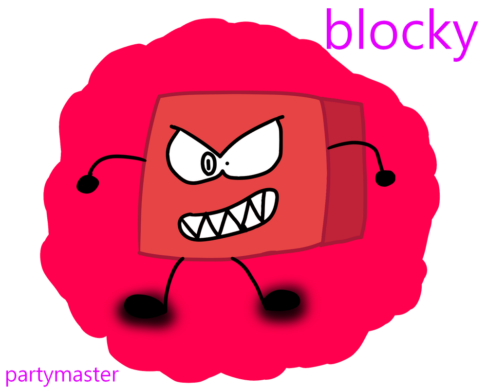 Blocky From Bfb by partymaster58 on DeviantArt