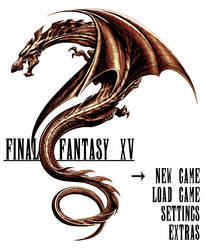 Final fantasy XV fanmade logo (Dragon 3) by RJPrescott