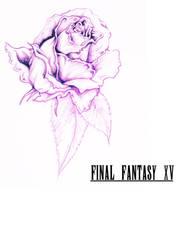 Final fantasy XV fanmade logo Rose (colour) by RJPrescott