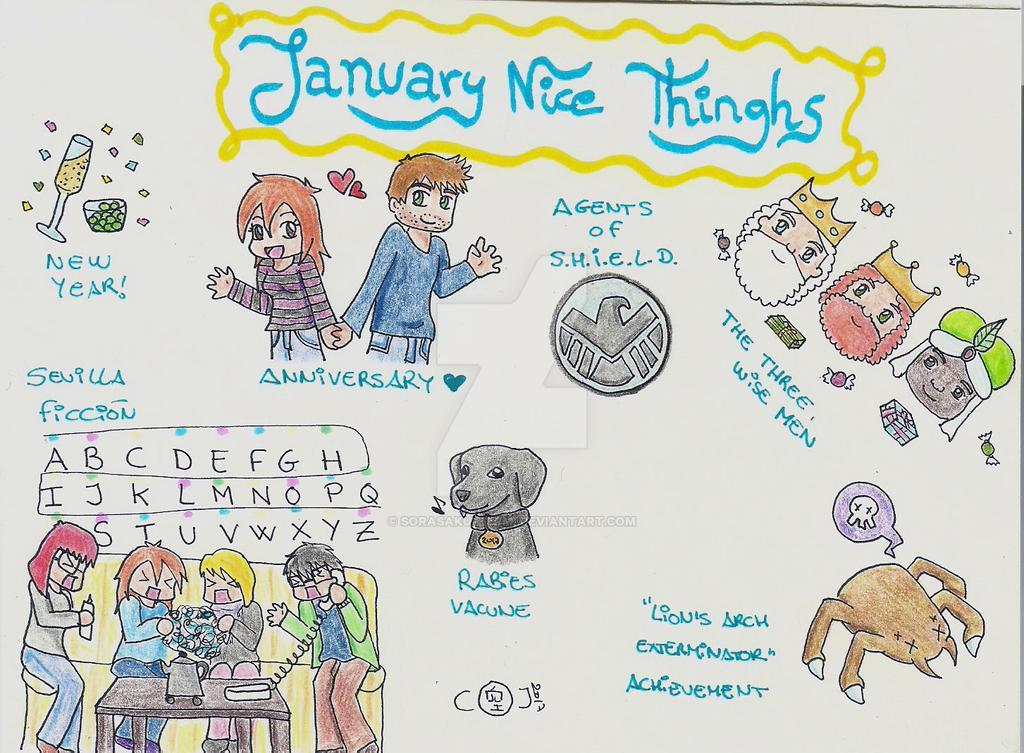 January Nice Things by sorasaku-hermi