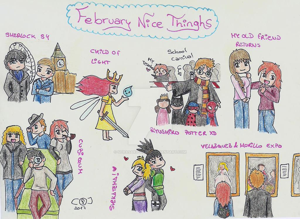 February Nice Things by sorasaku-hermi