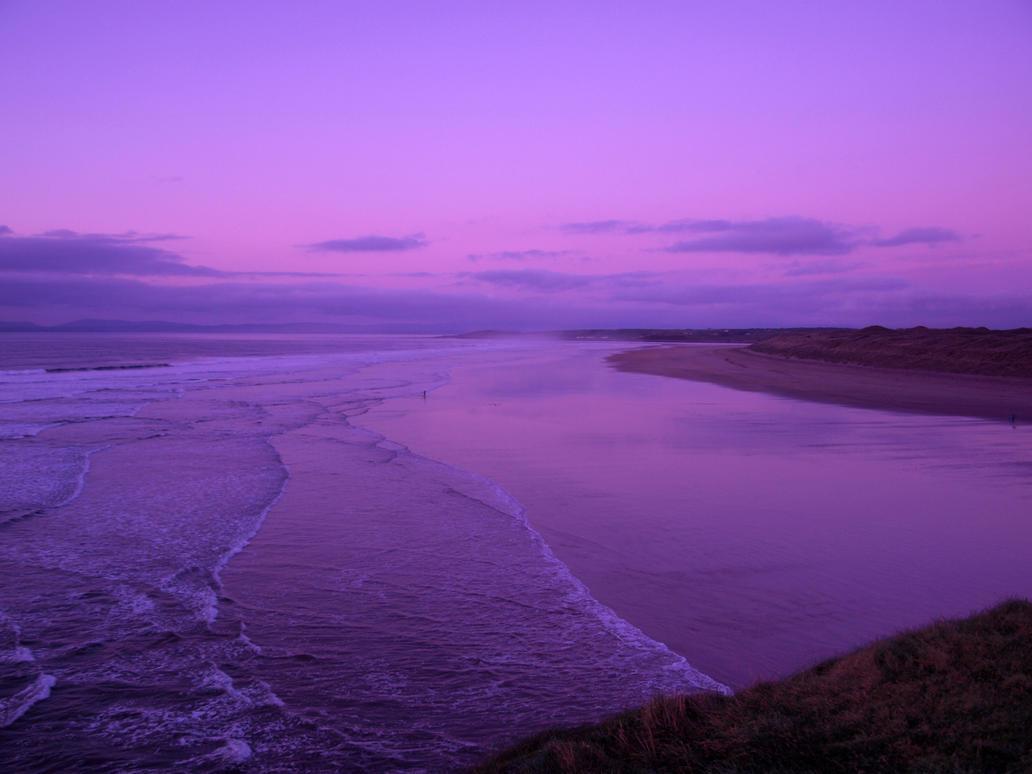 purple beach by sleepielion