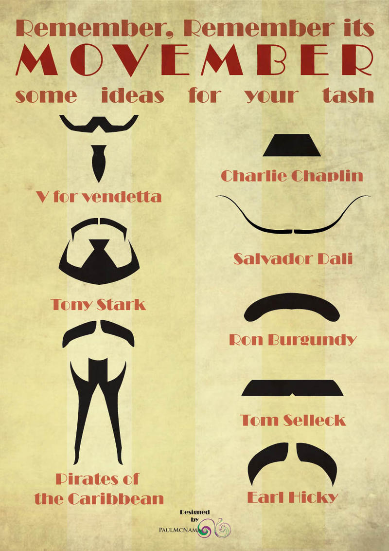 Movember poster by sleepielion