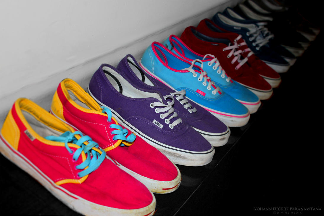 vans of the wall zwart