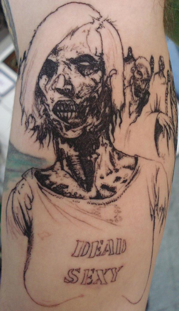 Zombie Girl Tattoo