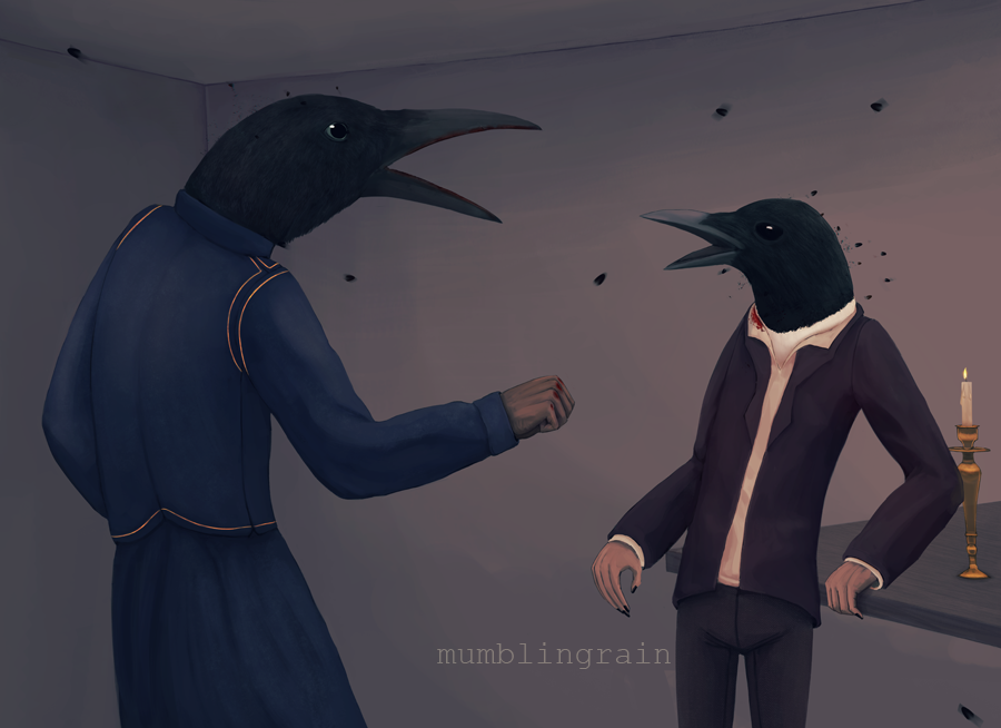 Corvidae by mumblingRain