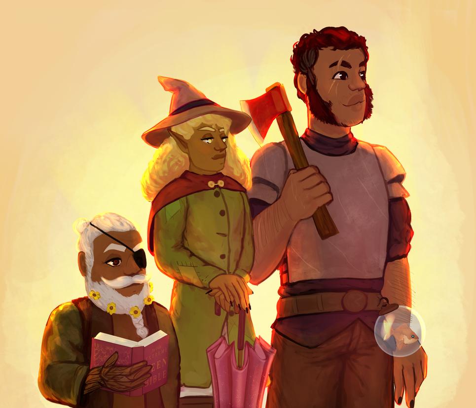 TRES HORNY BOYS by ferretsketch