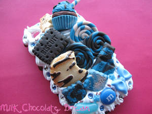 Blue and Chocolate Theme Decoden Phone Case by Frainy
