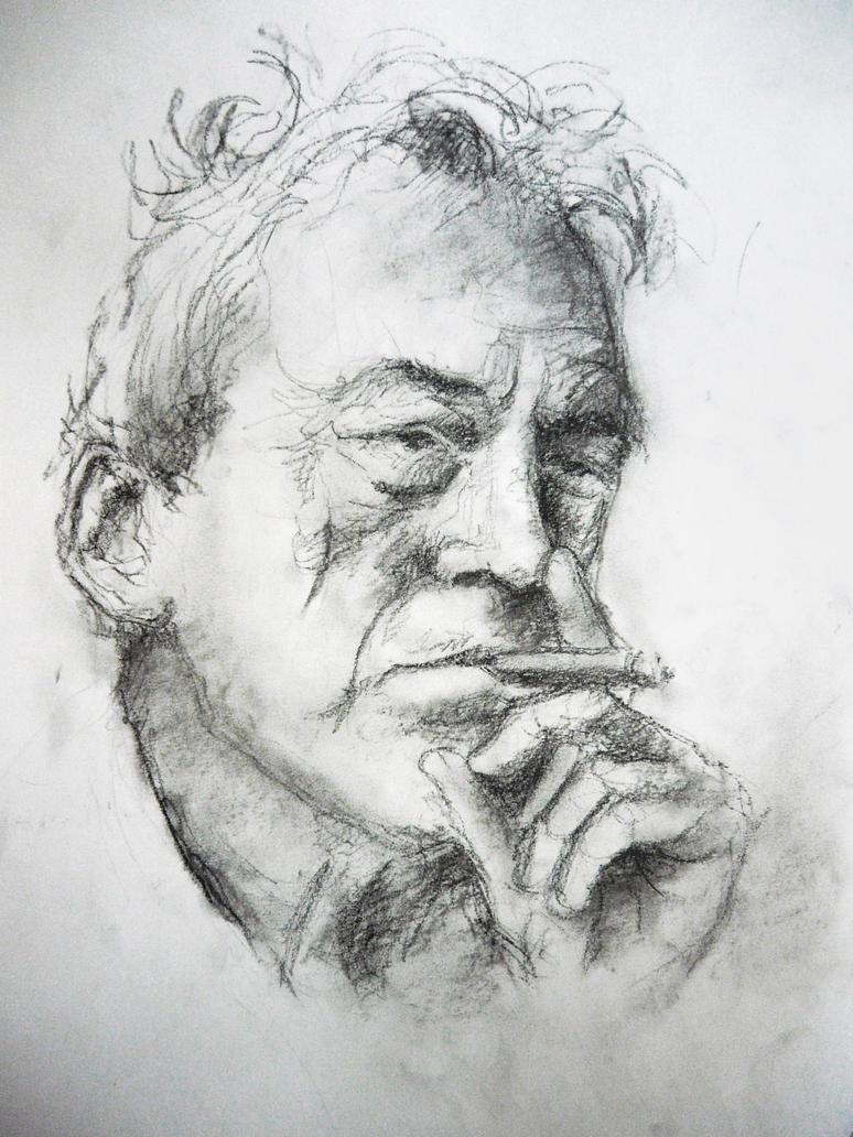John Huston by Iulia-Oprinesc