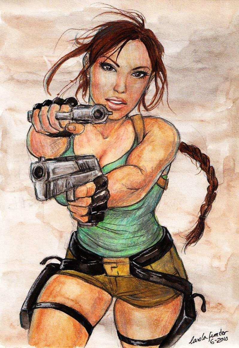 Lara Croft June 2010 by CarolaFunder