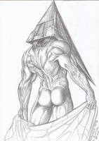 Pyramid Head pencils by CarolaFunder