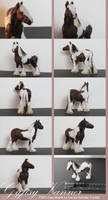 Gypsy Vanner FIMO Clay Model by CarolaFunder