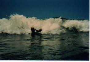 This is 'bodysurfing.'