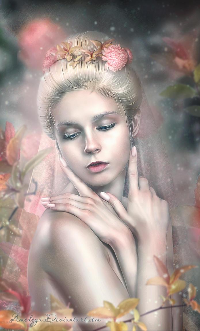 Floral tenderness by Amedeya