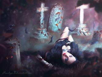 Fallen angel by Amedeya