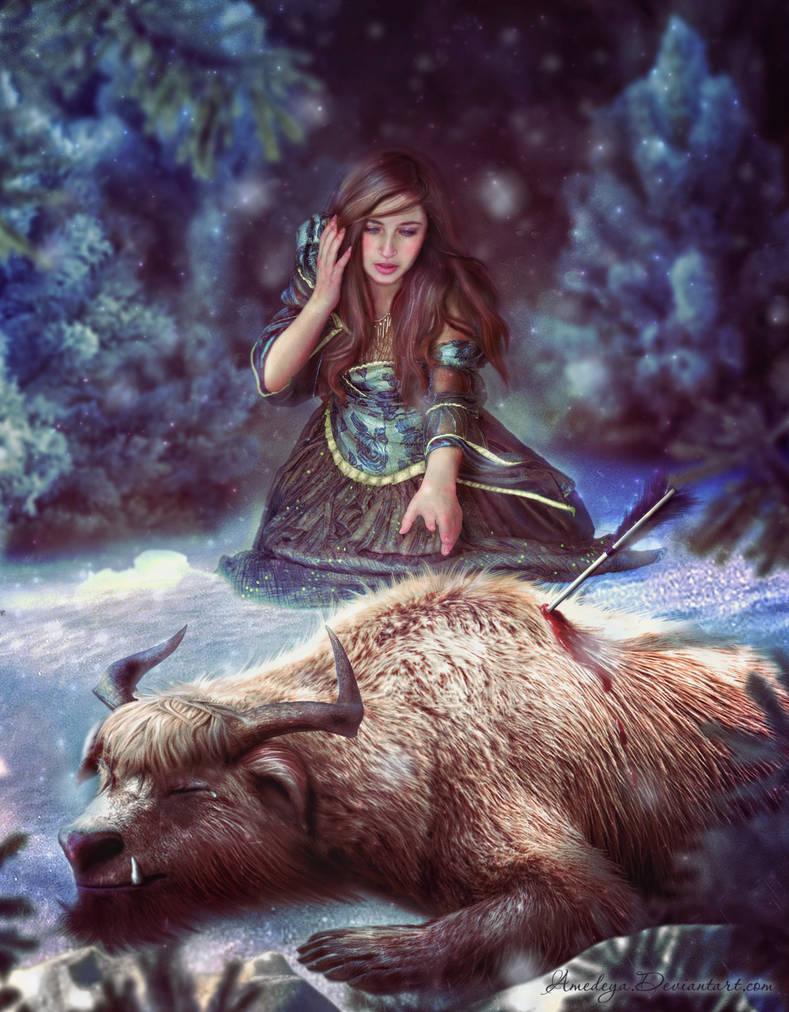 Beauty and the beast by Amedeya