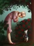 Meeting the White Rabbit (Alice)