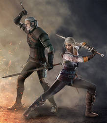 Together Again - Geralt and Ciri (Witcher 3) by Shinobi2u
