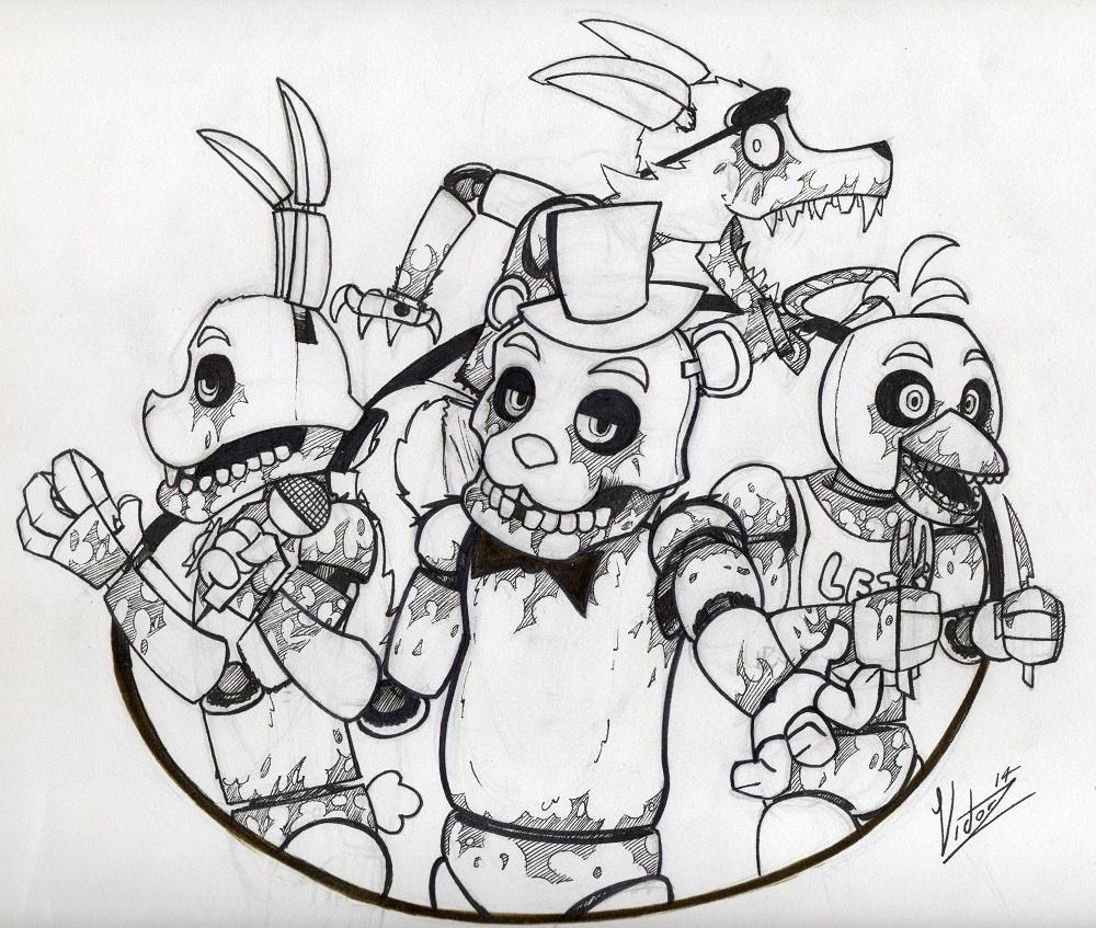Freddy Fazbear Drawing Freddy Fazbear Drawing