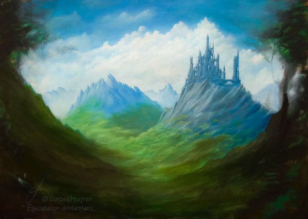 Forest Castle WIP2 by Elucidator