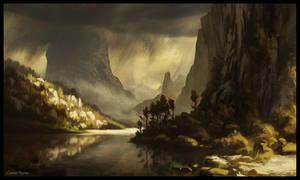 Virga and Mountains by CorbinHunter