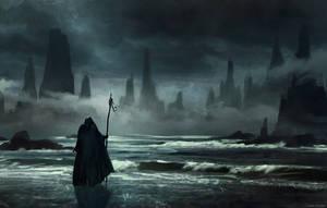 Sea Wizard (speedpainting) by CorbinHunter