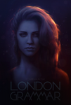 London Grammar - Hannah Reid poster