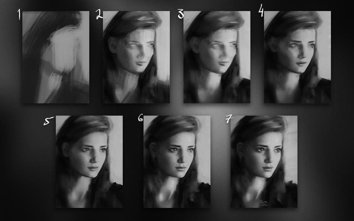 Portrait study mini-tutorial by Elucidator