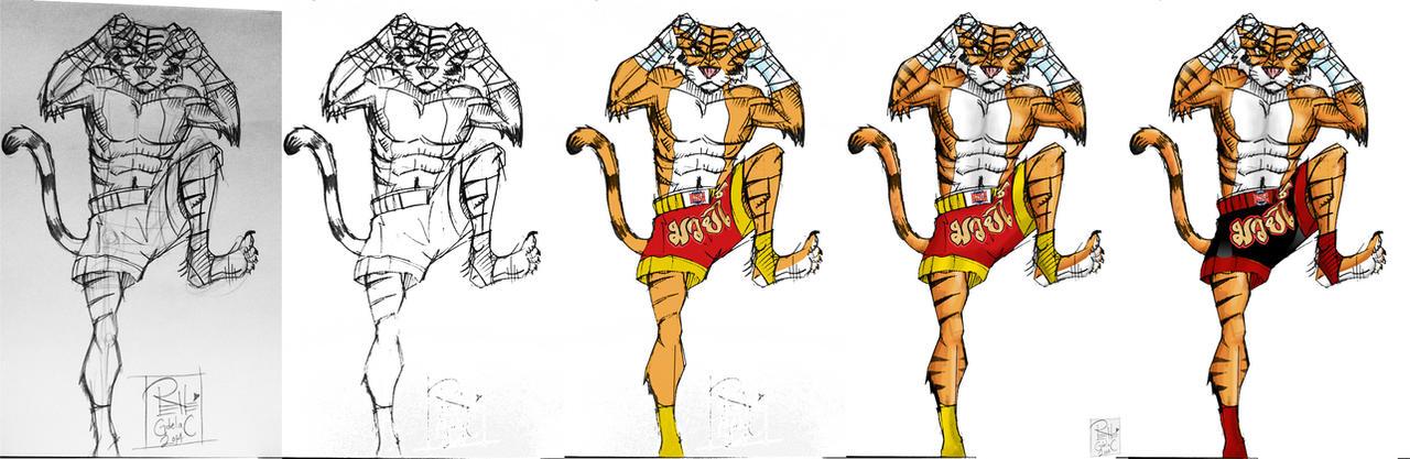 King Narai coloring process by DunadanX