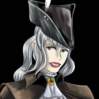 Lady Maria smiling