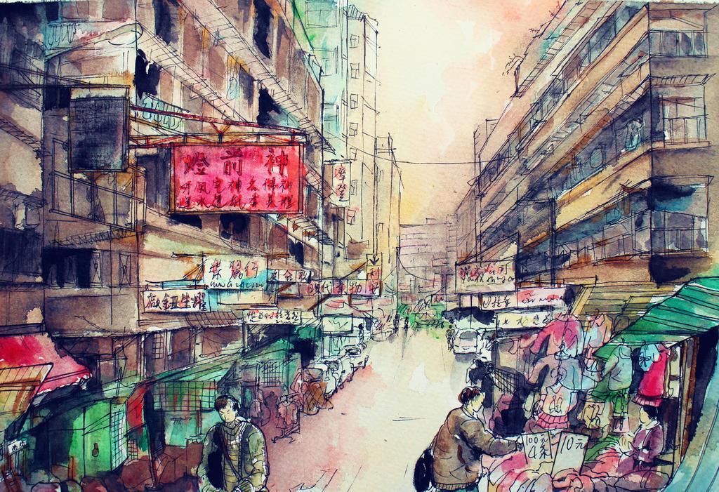 Sham shui po old hong kong by elainechiu on deviantart for Local wallpaper shops