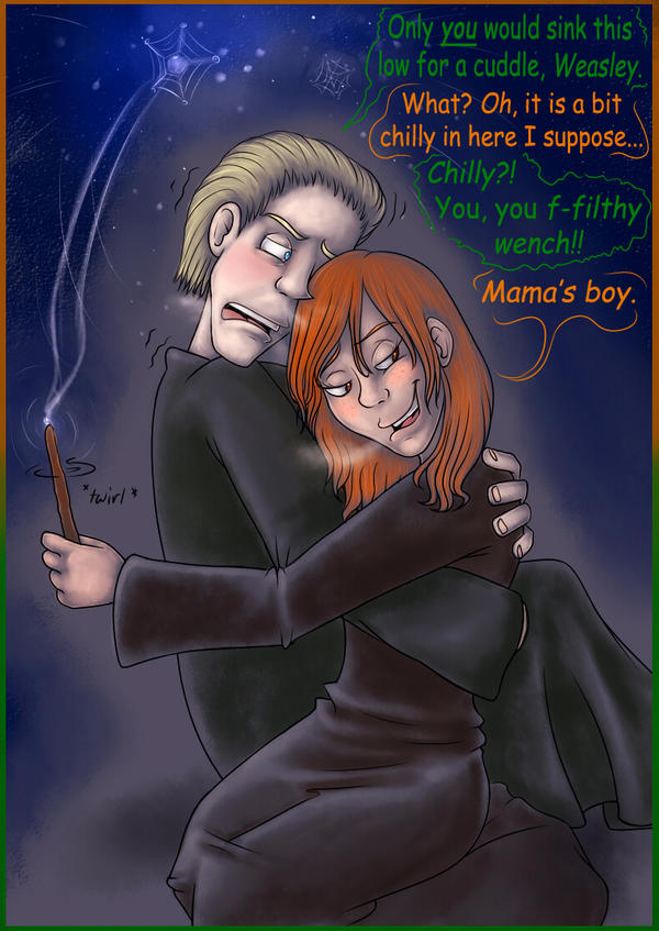 Draco n Ginny for Rose-Rayne by MissusPatches