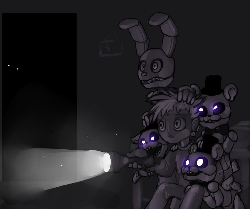 FNaF 4 by YugiTatsu on DeviantArt Easy Drawings Of Tom And Jerry