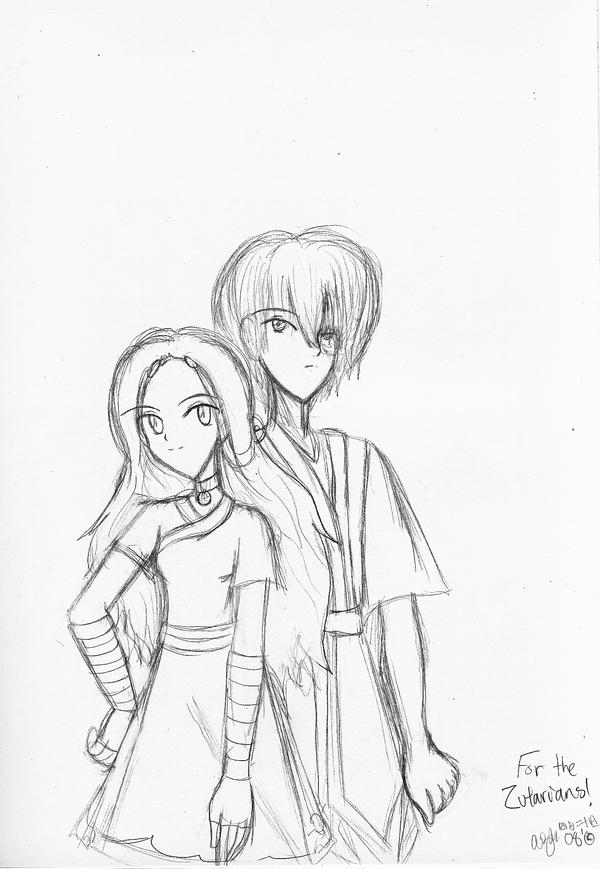 Zutara-Side By Side -kinda- by SapphireSakura