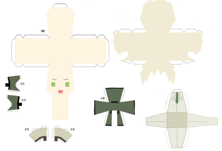 Greenland Papercraft Design by SapphireSakura