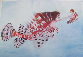 Lionfish Mermaid Mother by WashedUp