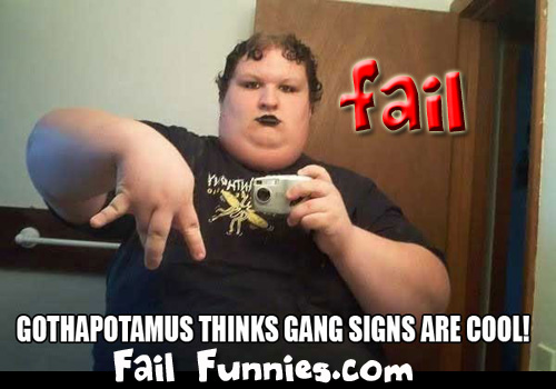 Gothapotamus-gang-sign-fail by mjanes7499
