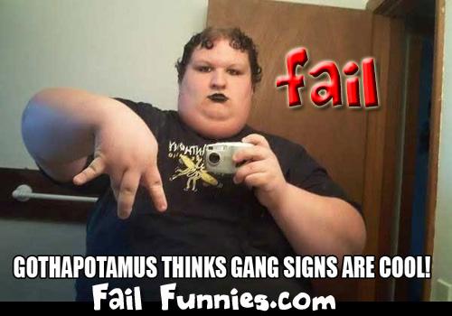 Gothapotamus-gang-sign-fail by mjanes7499