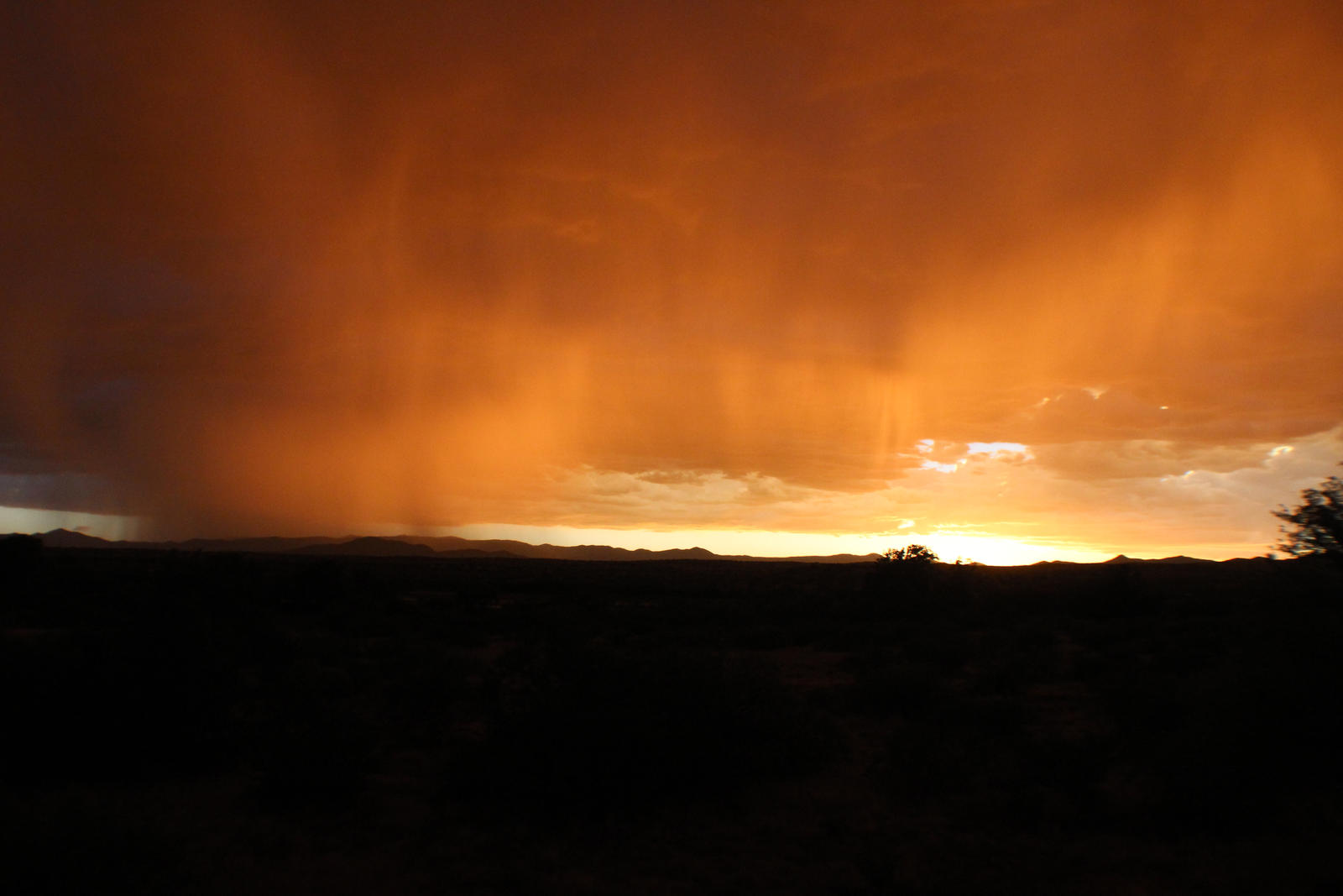 Sunset, rain, Arizona by LongBow986
