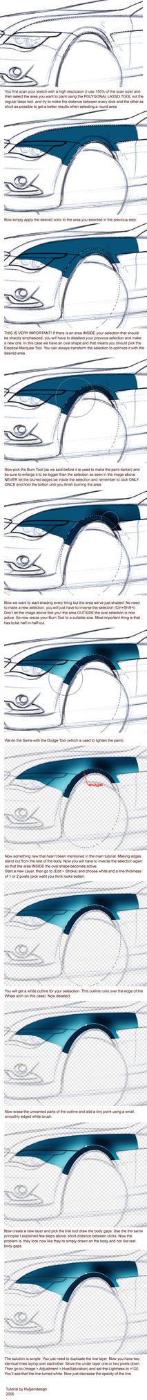 Painting a car digitally II