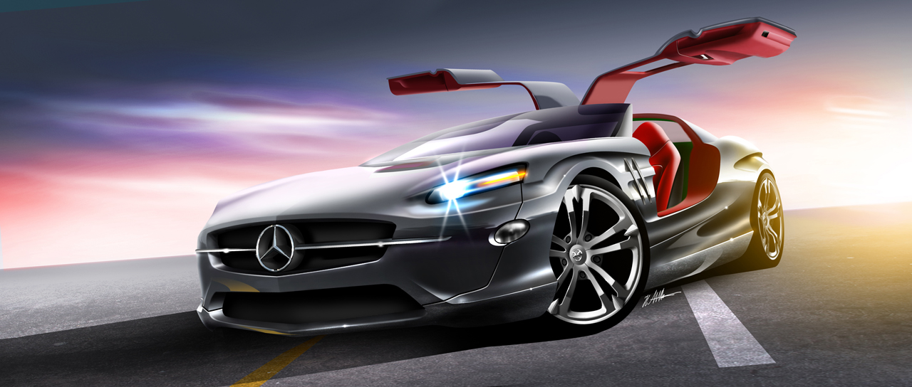 The New SL Gullwing By Husseindesign On DeviantArt - The new cars