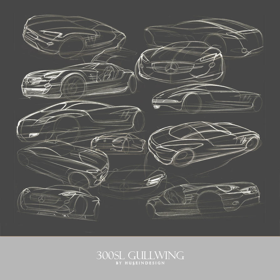 Gullwing sketches by husseindesign