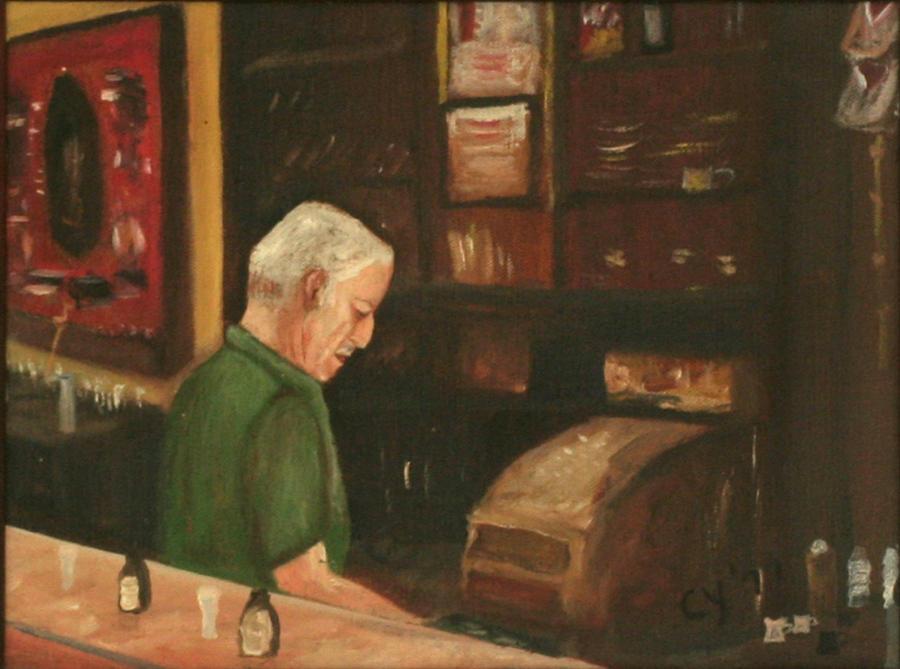 Dad at the Cash Register by CarolynYM
