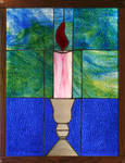 Candle in Stained Glass