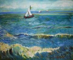 Seascape near Saintes-Maries by CarolynYM