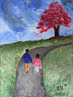 Boy and Girl went up a Hill by CarolynYM