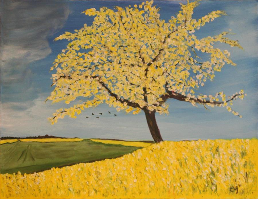 Yellow Landscape by CarolynYM