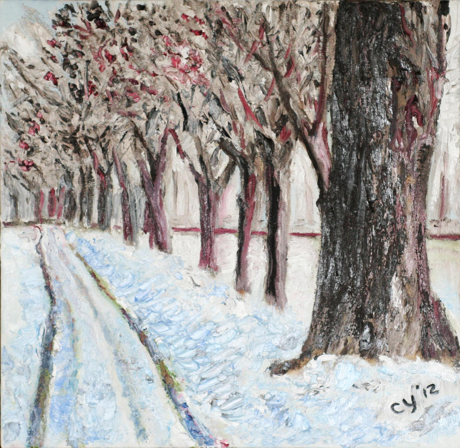 Row of Trees by CarolynYM