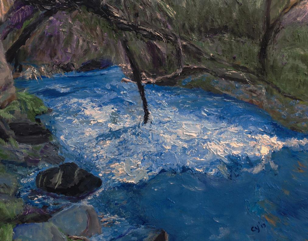 Blue Water by CarolynYM