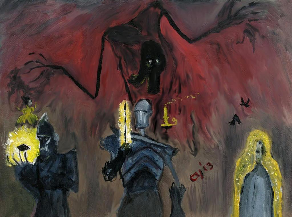 Death and Three Brothers by CarolynYM